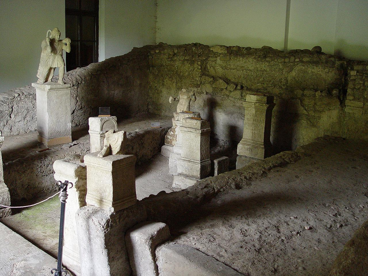 Inside view of the Mithraeum I, Ptuj